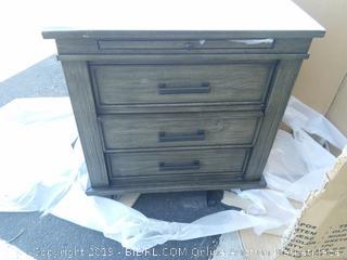 Sayler 3 Drawer Nightstand (corner broken, see photos)