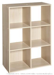 ClosetMaid 4176 Cubeicals Organizer, 6-Cube, Birch Factory Sealed