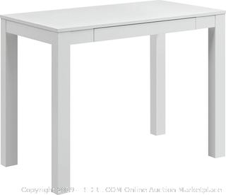 Ameriwood Home Parsons Desk with Drawer, White - 9178096 (online $69)