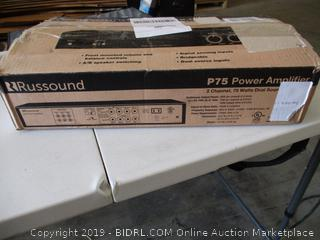 Russound 2 Channel 75 Watts Amplifier P75 (Powers On)
