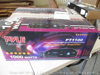 Pyle Audio Digital Amplifier PT1100  (Powers On)