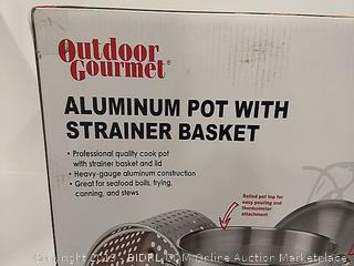 Outdoor Gourmet Aluminum Pot With Strainer Basket