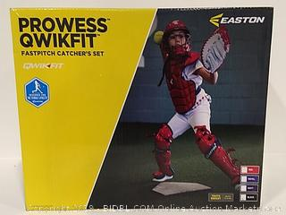 Prowess Qwikfit Fastpitch Catcher's Set Youth Black