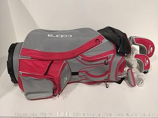 Cobra Flyz S Women's 8pc Right Hand Pink(Red) Complete Golf Set