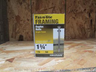 """Framing 1.75"""" Duplex Nails 1lb"""