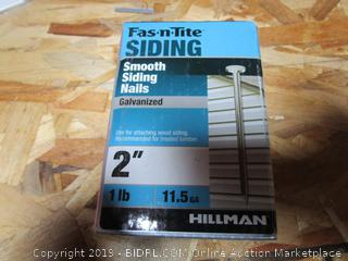 "Hillman Fas-n-Tite 2"" Smooth Siding Nails 1 lb"