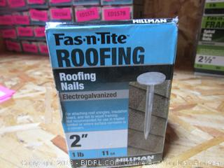 "Hillman Fas-n-Tite 2"" Electrogalvanized Roofing Nails 1 lb"