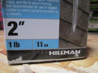 """Hillman Fas-n-Tite 2"""" Electrogalvanized Roofing Nails 1 lb"""