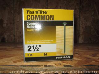 "Fas-n-Tite 2.5 "" Common Nails 5lb"