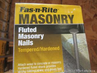 "Fast N Rite 2"" Fluted Masonry Nails 1 lb"