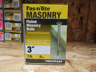"""Fast N Tite 3"""" Fluted Masonry Nails"""