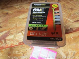 "Hillman One 1lb Multi Material Exterior Nails 1/4""x1 3/4"""