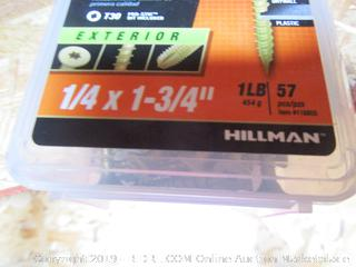 "Hillman One 1lb Multi Material Exterior Nails 1/4""x1 3/4"""