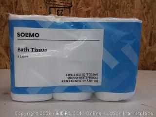 Solimo Bath Tissue, 6 Rolls