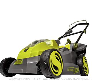 Sunjoe iOn16LM Cordless Lawn Mower green (40-volt 16 inch)