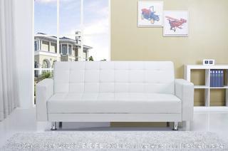 White Rosina Sleeper Sofa  (online $326)