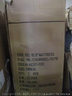 """10.5"""" Cool Gel Foam Mattress Size Twin XL"""