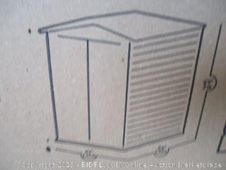 Rubbermaid vertical shed - box damage