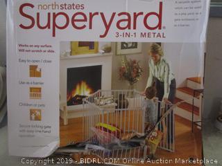 superyard 3 in 1 metal children's enclosure