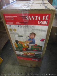 Santa Fe train children's toy set - damaged