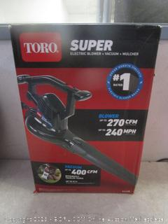 Toro super electric blower - box damage
