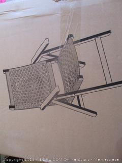 Poly Weave Folding Chair
