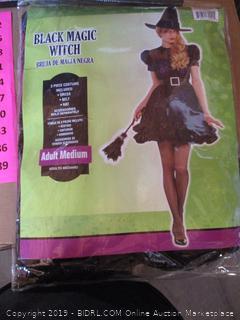 Black Magic Witch Costume, Adult Medium
