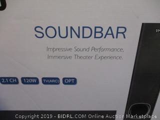 VMAI Soundbar and Subwoofer