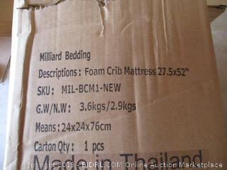 Milliard Bedding Foam Crib Mattress