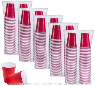 500 count 16oz Red Solo Cups Factory Sealed (online $45)