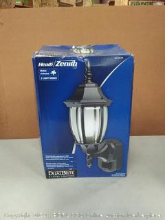 Heath Zenith HZ-4192-BK Six-Sided Die-Cast Aluminum Lantern, Black with Beveled Glass