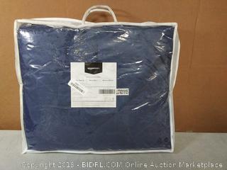 Reversible Microfiber Comforter Blanket - Twin or Twin XL, Navy Blue