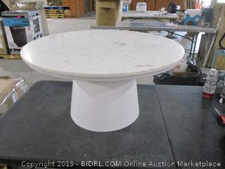 Round Table in box damaged See pictures