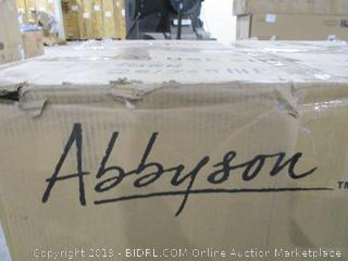 Abbyson Carlsbad Push Back Leather Recliner