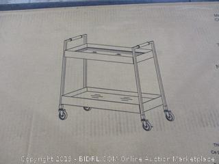 Metal and Brass Bar Cart