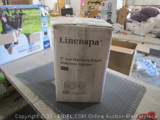 """Linenspa 3"""" Gel Memory Foam Mattress Topper Twin"""