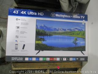 """Westinghouse Roku TV   43"""" 4K Ultra HD Powers On See Pictures"""
