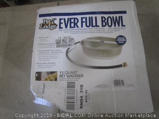 Ever full bowl dented
