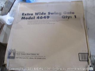 Extra wide Swing gate damaged