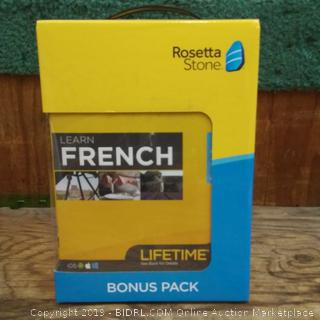 Rosetta Stone French factory sealed