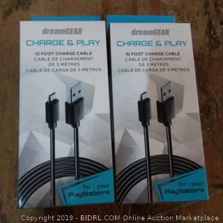 Dreamgear Charge & Play 10 Foot Charge Cable