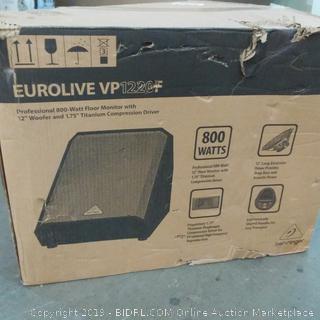 "Eurolive VP Professional 800 watt Floor Monitor with 12"" Woofer"