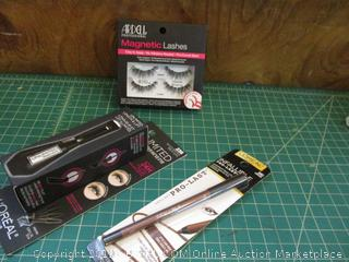 Eyelashes, Pencil Eyeliner and Mascara