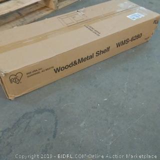 Wood & Metal Shelf box damaged