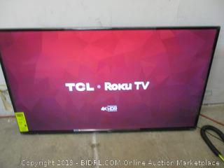 """TCL Roku TV 4K HDR Smart TV 50"""" Powers on See Pictures"""