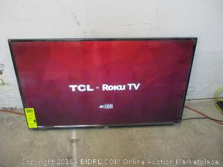 """TCL Roku TV 4K HDR 43"""" Powers on in box see pictures"""