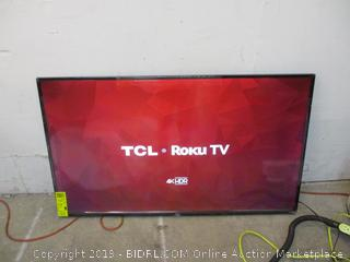 """TCL Roku TV 4K HDR Smart TV 55"""" Powers on in box see pictures"""