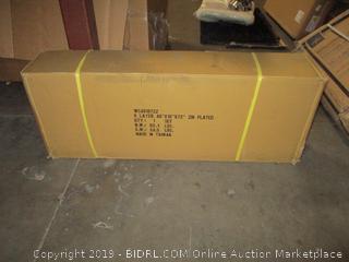 """Muscle Rack WS481872-Z Steel Shelving Unit, 6 Shelf, 48"""" Width, 72"""" Height, 18"""" Depth, Zinc (Retail $108.00)"""