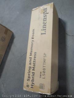 "Linenspa 8"" Spring and Memory Foam Mattress, Twin"
