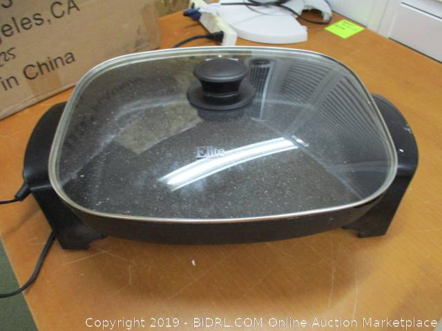 Elite Platinum EG-6203 Non-stick Deep Dish Heavy Duty Electric Skillet with